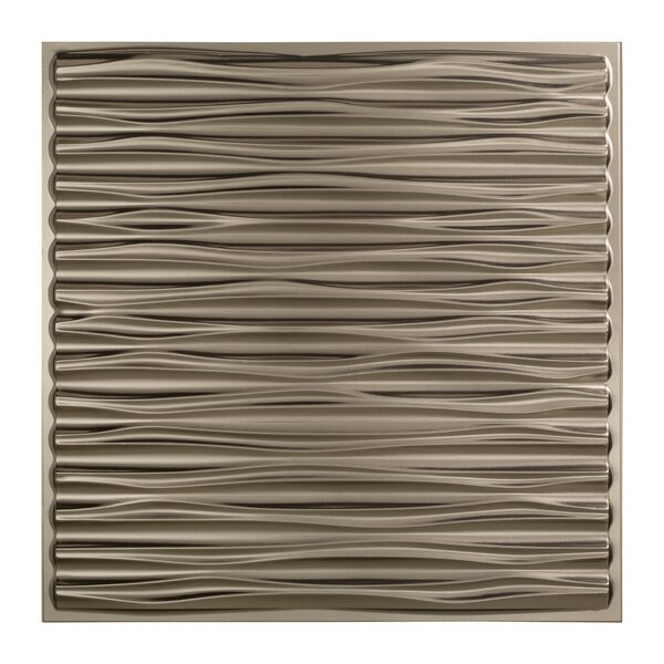 Dunes 2 ft. x 2 ft. Drop-In Ceiling Tile in Brushed Nickel by Fasade