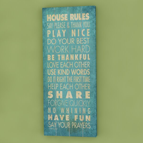 House Rules Textual Art by Red Barrel Studio