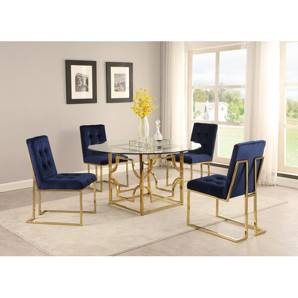 Schacht 5 Piece Dining Set by Everly Quinn Everly Quinn