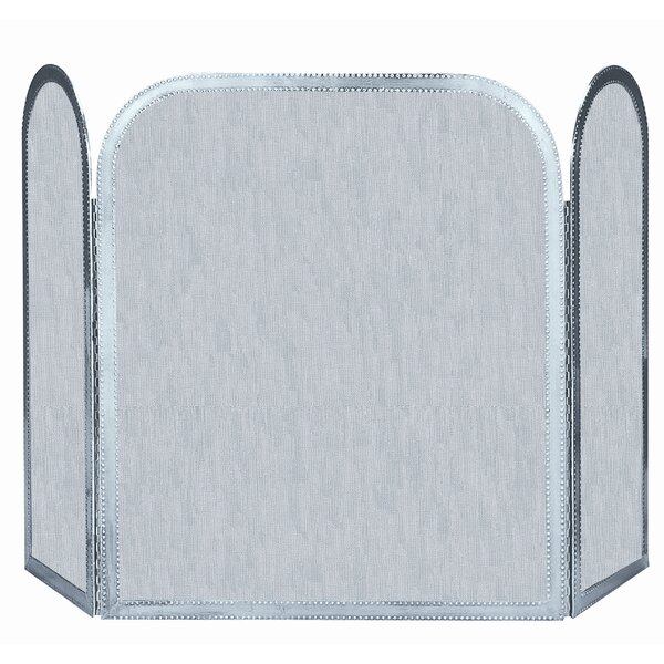 uniflame 3 panel pewter fireplace screen reviews wayfair rh wayfair com fireplace screens pewter finish fireplace screens pewter finish