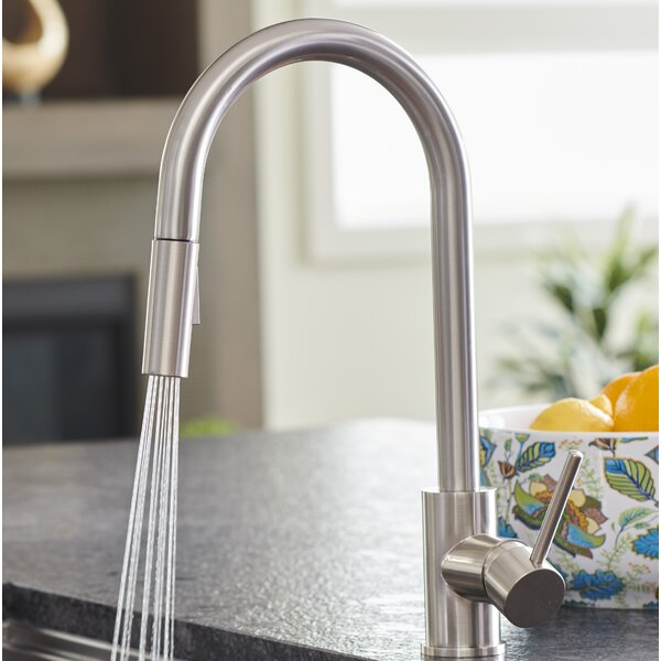 Bellevue Pull-Down Single Handle Kitchen Faucet by Pacific Bay Pacific Bay
