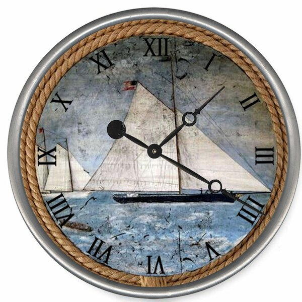 Hardee Schooner Wall Clock by Breakwater Bay