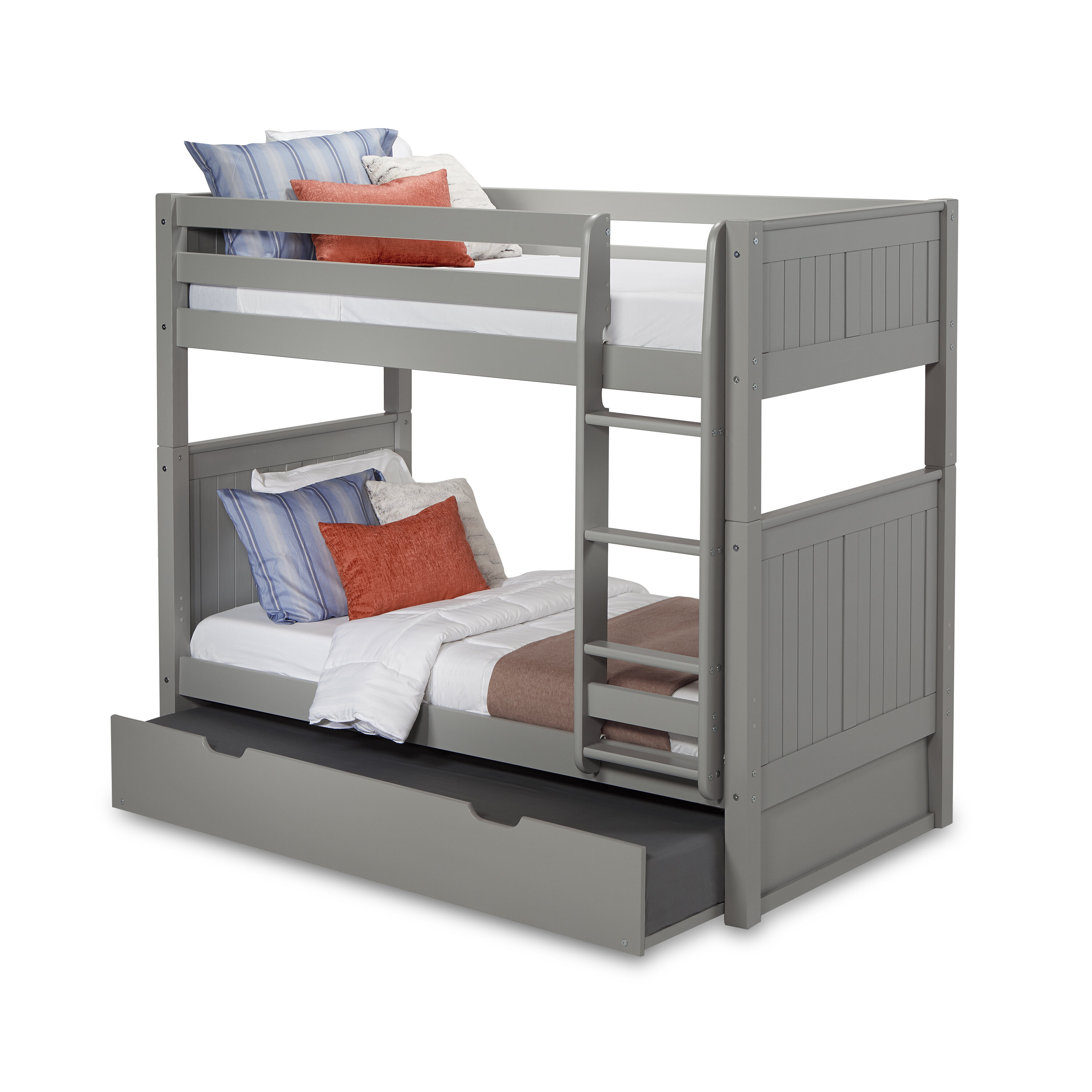 Harriet Bee Oakwood Twin Over Twin Bunk Bed With Trundle Reviews