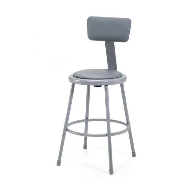 Stool with Adjustable Backrest by National Public