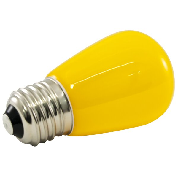 1.4W Yellow Frosted 120-Volt LED Light Bulb (Set of 25) by American Lighting LLC