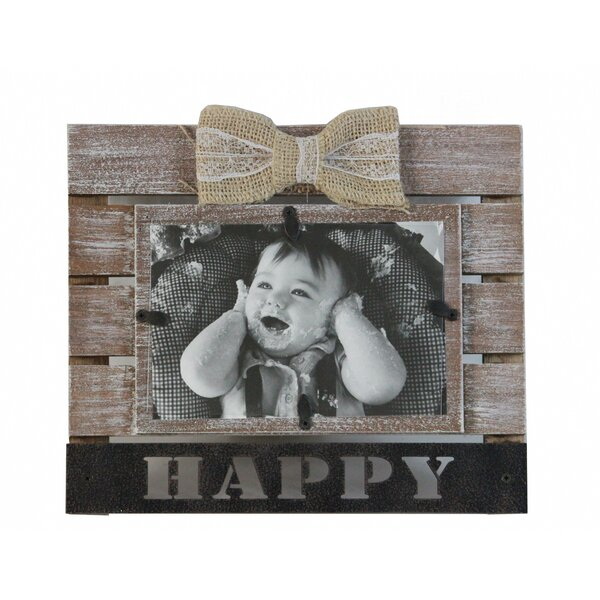 Dole Ribbon Happy Picture Frame by Gracie Oaks