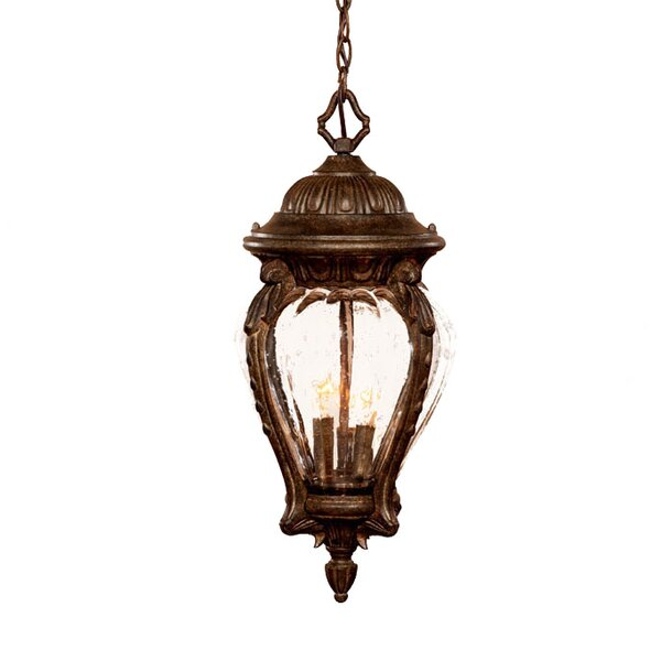 Pursell 3-Light Outdoor Hanging Lantern by Charlton Home