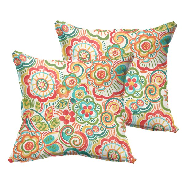 Annette Indoor/Outdoor Throw Pillow (Set of 2) by Latitude Run