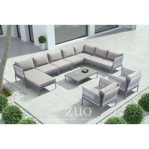 Alfaro Deep Seating Group with Cushions Brayden Studio