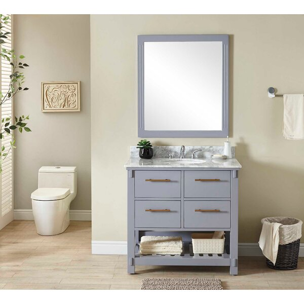 Gravois 37 Single Bathroom Vanity Set by Wrought Studio