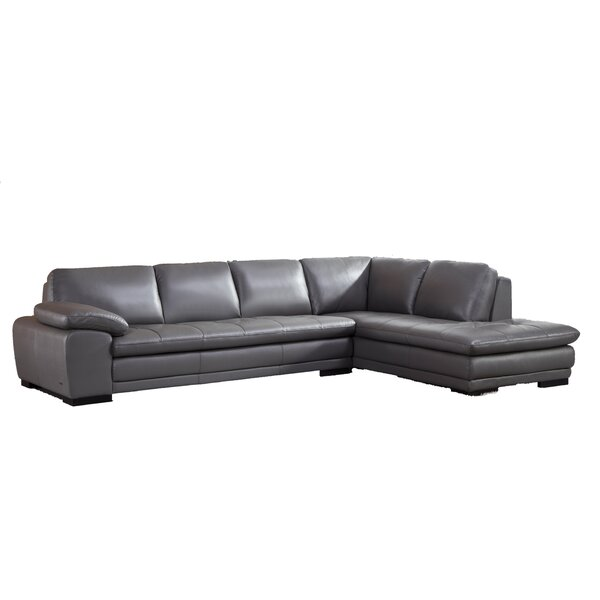 Stockbridge Leather Sectional by Wade Logan