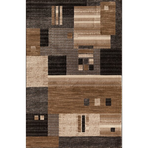 Arreola Modern Quilt Gray/Brown Area Rug by Ebern Designs