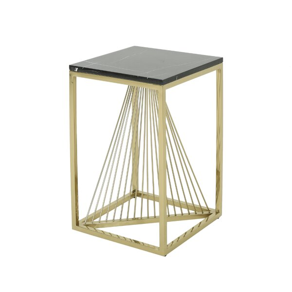Kyte Modern Faux Marble End Table By Mercer41