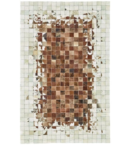 Alysa Hand-Stitched Brown/Beige Area Rug by 17 Stories