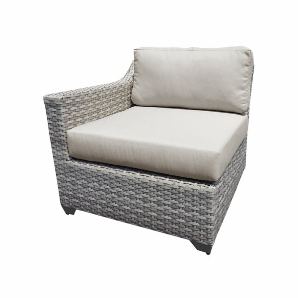Ansonia Right Arm Patio Chair with Cushions by Rosecliff Heights