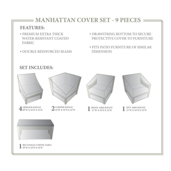Manhattan Winter 9 Piece Cover Set by TK Classics