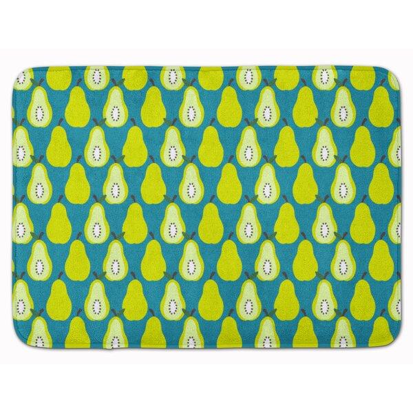 Donohoe Pears Rectangle Microfiber Non-Slip Geometric Bath Rug