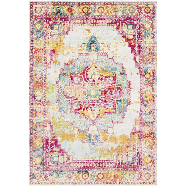 Tillamook Rose/Bright Pink/Sky Area Rug by Bungalow Rose