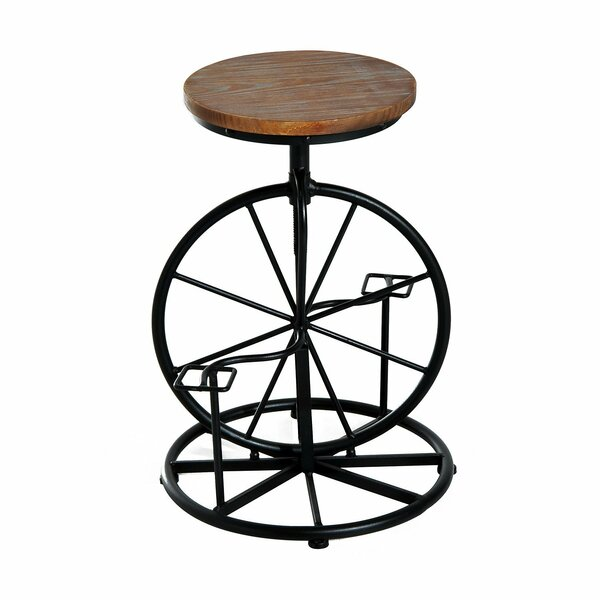 Nevin Bicycle Wheel Adjustable Height Swivel Bar Stool by Williston Forge