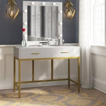 Brayden Studio Krall Vanity With Mirror Wayfair