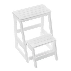 Levi Folding 2-Step Wood Step Stool with 200 lb. Load Capacity  sc 1 st  Wayfair & Step Stools Youu0027ll Love | Wayfair islam-shia.org
