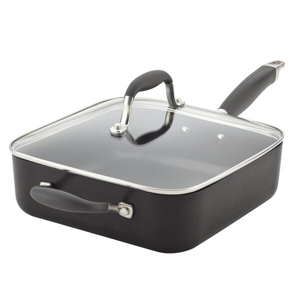 Hard-Anodized 4 qt. Advanced Square Non-stick with Handle and Lid by Anolon