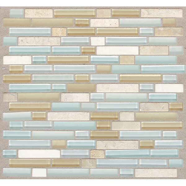Treasure 12 x 13 Glass Gem Mosaic Tile in Blue Ice by Mohawk Flooring