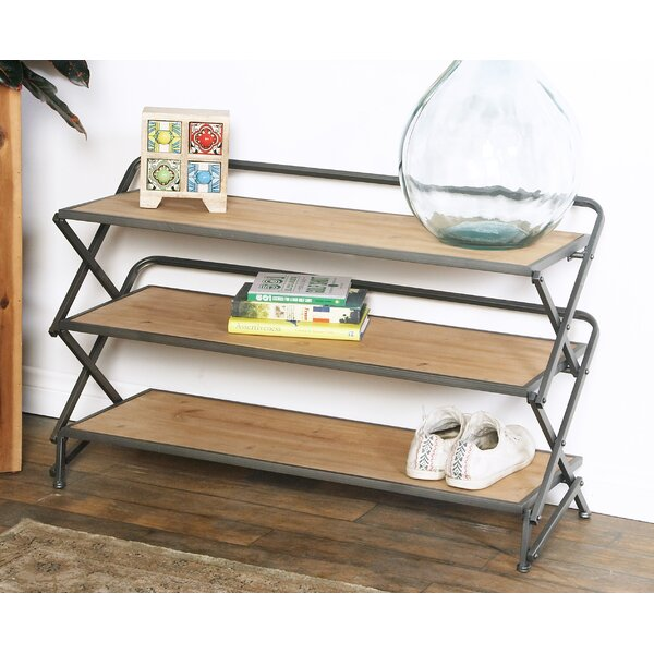 Contemporary 3-Tiered and Accordion Shelving Unit by Cole & Grey