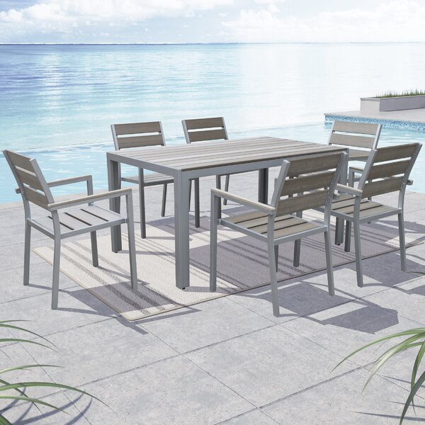 Allen 7 Piece Dining Set By Beachcrest Home