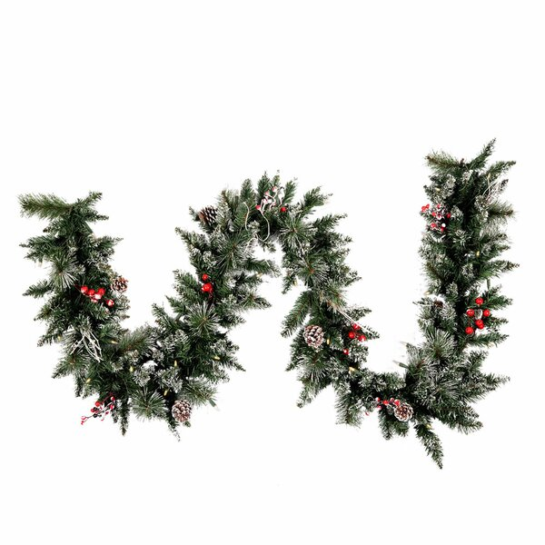 Snow Tipped Pine and Berry Christmas Garland by The Holiday Aisle