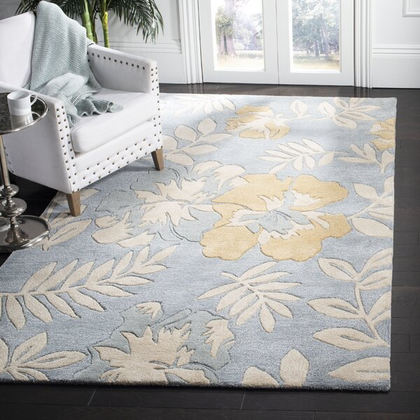 Felton Light Dark Blue / Light Dark Multi Contemporary Rug by Bay Isle Home