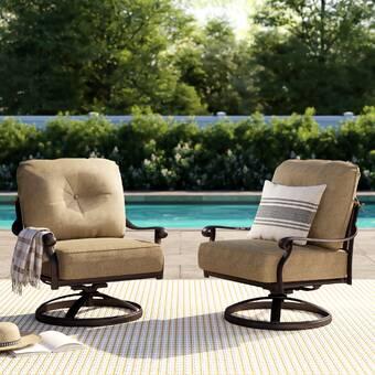 Super Lebanon Rocker Swivel Recliner Patio Chair With Cushions Spiritservingveterans Wood Chair Design Ideas Spiritservingveteransorg