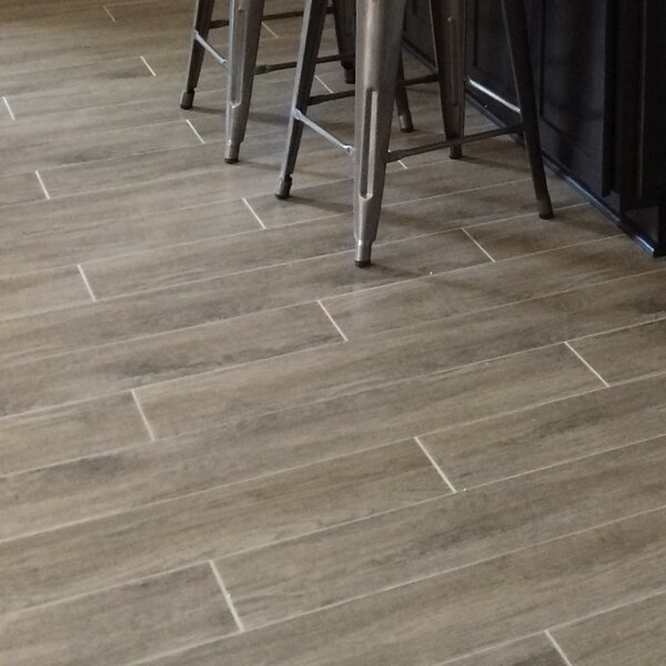 Woodwork 6 x 24 Porcelain Wood Look/Field Tile in Hillsboro by Emser Tile