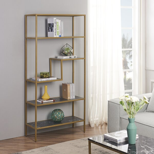 Delcastillo 5-Tier Etagere Bookcase By Everly Quinn