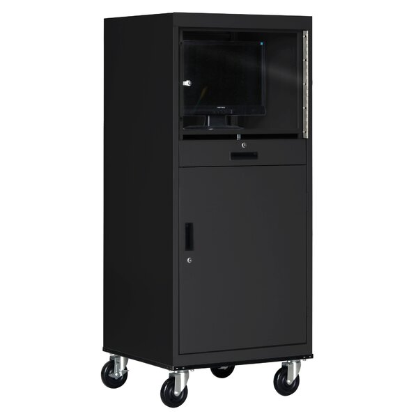 Mobile Computer Security Workstation AV Cart by Sandusky Cabinets