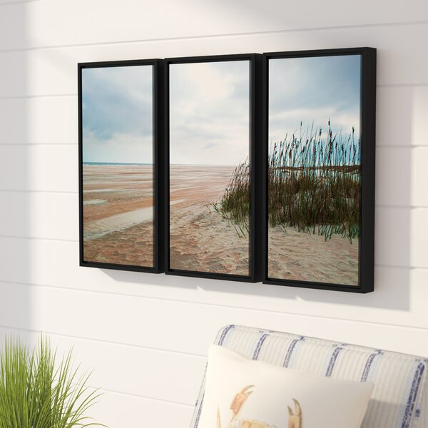 Chuck Burdick Sand Dunes II 3Piece Framed Photographic Print on Wrapped Canvas Set by Beachcrest Home