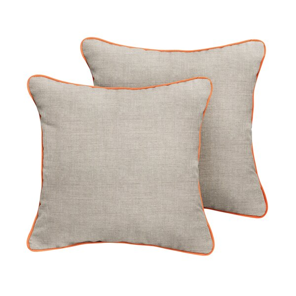 Sharpes Sunbrella Cast Outdoor Throw Pillow (Set of 2) by Rosecliff Heights