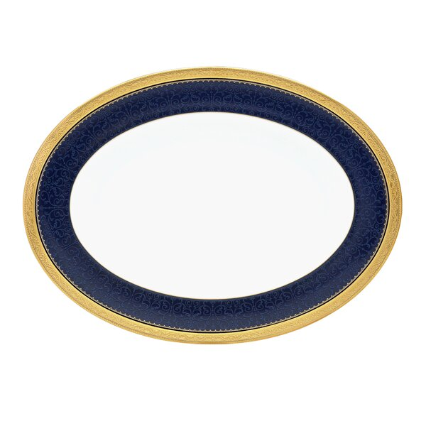 Odessa Cobalt Oval Bone China Platter by Noritake
