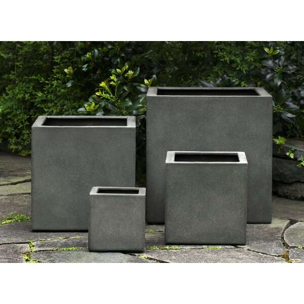 Hsu 3-Piece Square Fiberglass Planter Box Set by 17 Stories
