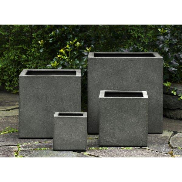 Hsu 3-Piece Square Fiberglass Planter Box Set by 17 Stories