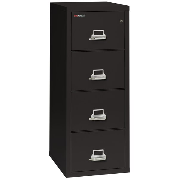 Fireproof 4-Drawer Vertical File Cabinet by FireKing| @ $3,550.00