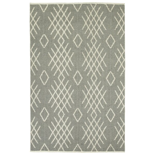 Porras Hand-Tufted Wool Gray Area Rug by Union Rustic