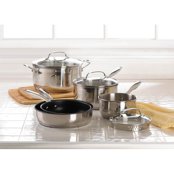 8-Piece Stainless Steel Cookware Set by Zingz & Thingz