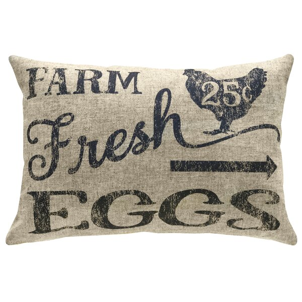 Mcanulty Farm Fresh Eggs Linen Throw Pillow by Gracie Oaks