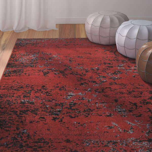 Fayme Red/Black Area Rug by World Menagerie