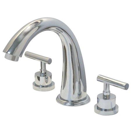 Manhattan Double Handle Deck Mounted Roman Tub Faucet Trim by Kingston Brass Kingston Brass