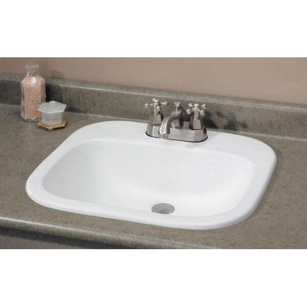 Ibiza Vitreous China Rectangular Drop-In Bathroom Sink with Overflow