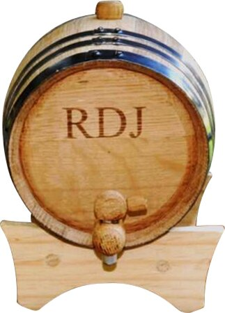 Personalized Gift 2 Liter Whiskey Barrel by JDS Personalized Gifts