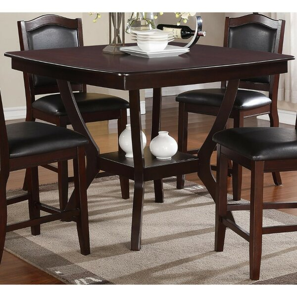 Ruddell Wooden Counter Height Dining Table by Charlton Home