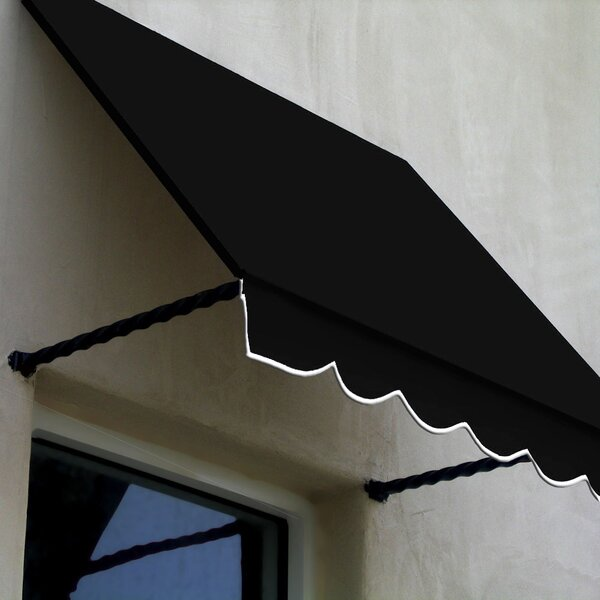 Santa Fe Twisted Rope Arm Window Awning by Awntech
